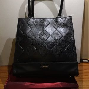 Tignanello Black leather tote. Used once.